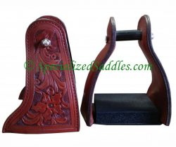 Leather Covered Trail Stirrup