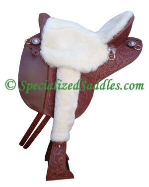 Specialized Saddles International with Fleece Seat and Stirrup Leather Covers
