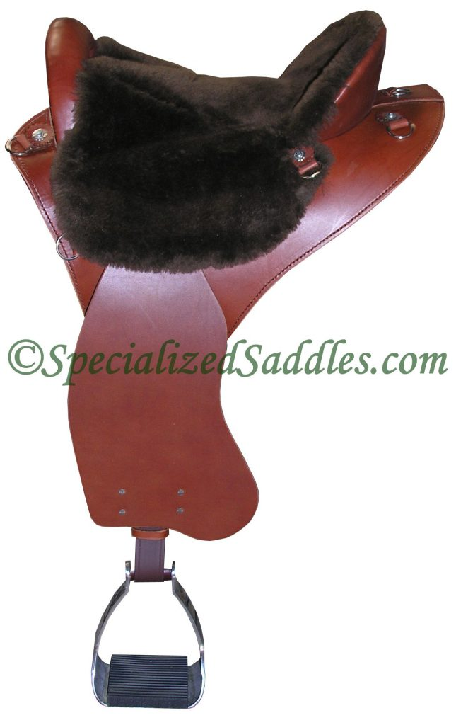 Specialized Saddles Brown Eurolight with Chocolate Fleece Trail Seat, Trail Fenders & Aluminum Trail Stirrups
