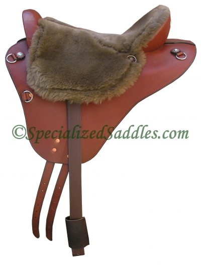 Specialized Saddles Brown Eurollight with Chocolate Fleece Flat Seat, Eglish Rigging & Leathers