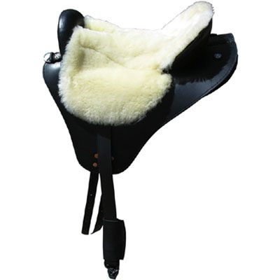 Specialized Saddles Black Eurolight with Bone Fleece Flat Seat, English Rigging & Leathers.