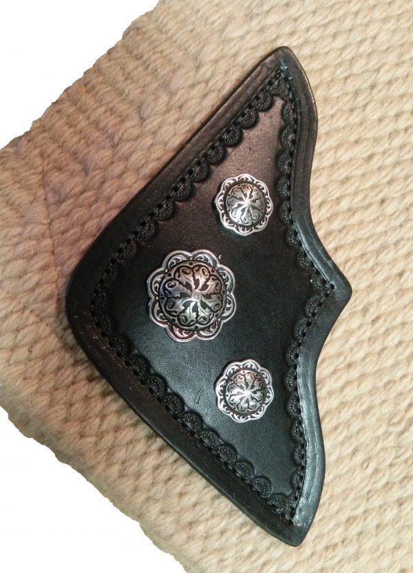 TW Saddlery Beige Custom Saddle Pad w/Leather corner & conchos