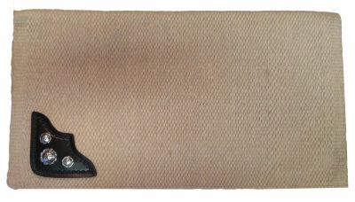 TW Saddlery Custom Saddle Pad Beige w/leather & conchos