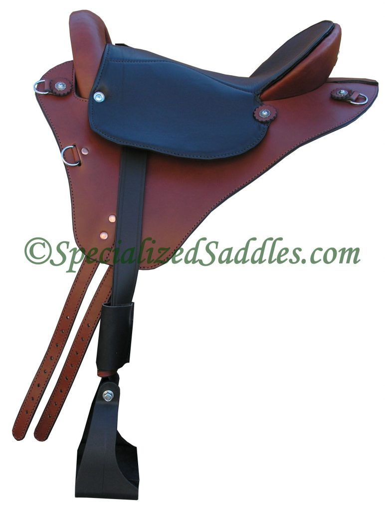 Specialized Saddles Brown Eurolight with Black Padded Leather Trail Seat, Leathers & Black Nylon Stirrups.