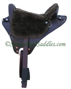 Specialized Saddles Mahogany Eurolight with Chocolate Fleece Trail Seat, Drop Dee Rigging with Leather Latigo, Leathers