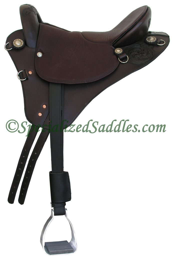 Specialized Saddles Mahogany Eurolight with Spot Floral Tooling