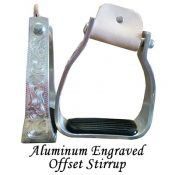Aluminum Engraved Offset Stirrup