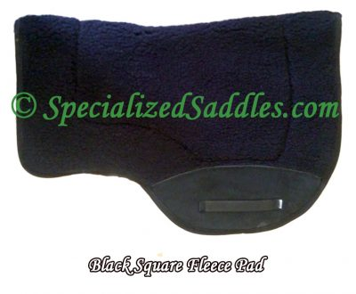 Black Square Fleece Pad