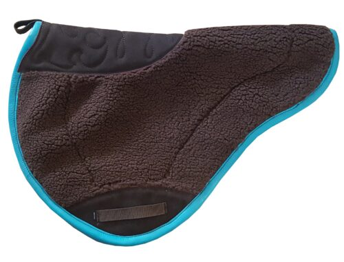 Round Leather Bound Saddle Pad