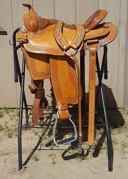 TWSaddlery.com 16 inch Light Oil Reining Saddle