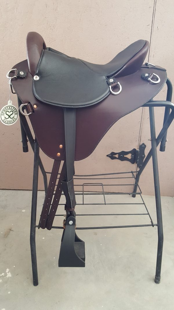 15 inch Mahogany Eurolight Saddle