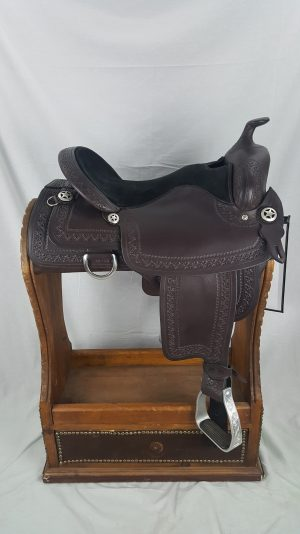 "16"" Mahogany Reining Saddle"